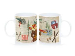 Cadeau mug ski Alpes