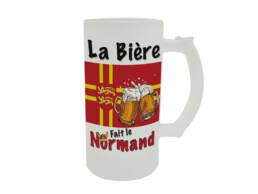 Chope de bière cadeau Normandie