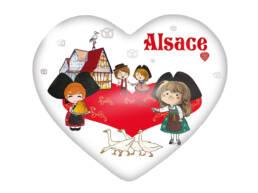 Magnet coeur souvenir Alsace