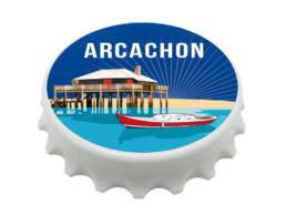 Magnet décapsuleur Arcachon