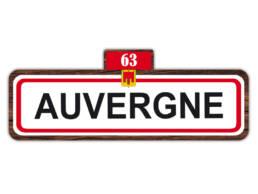 Cadeau souvenir magnet panneau Auvergne