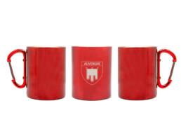 Cadeau souvenir mug Auvergne en métal