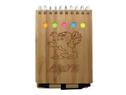 Souvenirs de Lyon calepin bambou