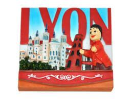 Souvenirs de Lyon magnet résine